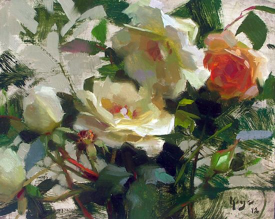 """WHITE ROSES"" ©DANIEL J. KEYS 2012-   ©This image is under strict copyright to the artist and may not be reproduced in any form"