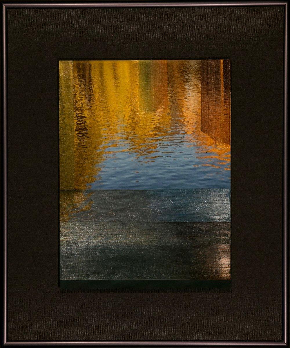 "Nature Interlaced Series    Autumn Mirror   15"" x 18""  Metal Print with Silks  2018"