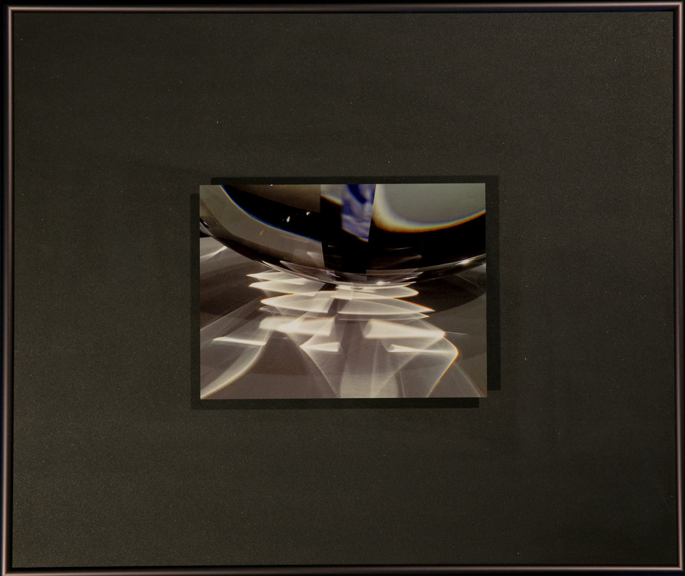 "Reflections Series    Ribbons of Light III   16"" x 19""  Metal Print with Silks  2018"