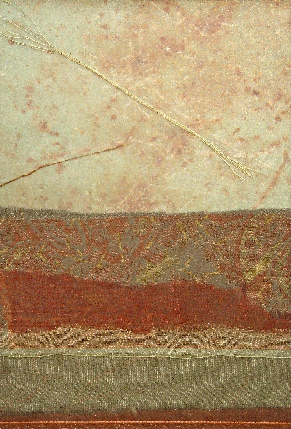 "Constellation Series    Constellation II    12"" x 16""   Paper and Silks  2007"