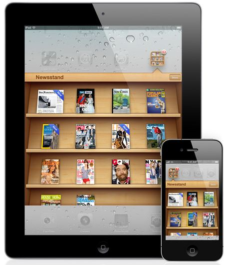 Apple Newsstand - here today, gone tomorrow.
