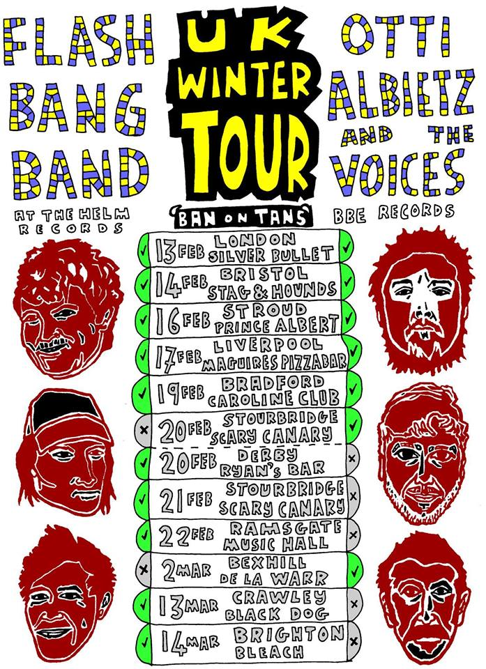 We strongly recommend that you catch a show from the Flash Bang Band + Otti & The Voices joint tour.