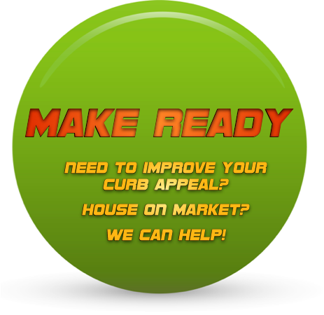 "We offer ""Make Ready"" jobs - Good for people who are trying to sell their house on the market.  We will clean up everything from the curb to the front of your house.  Mow, Edge, Trim, Blow and install new plants, trees, seasonal flowers to add curb appeal to your property.   Or in between tenants if you are renting a property.  We do the occasional light handyman work such as painting, wood work, decking, pergolas and so forth."