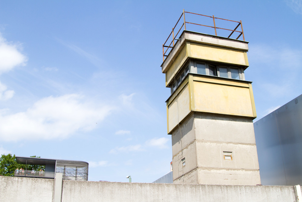 One of the few remaining East German watch towers