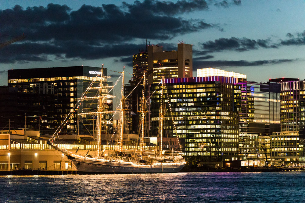 Sail Boston Night Ships Photography