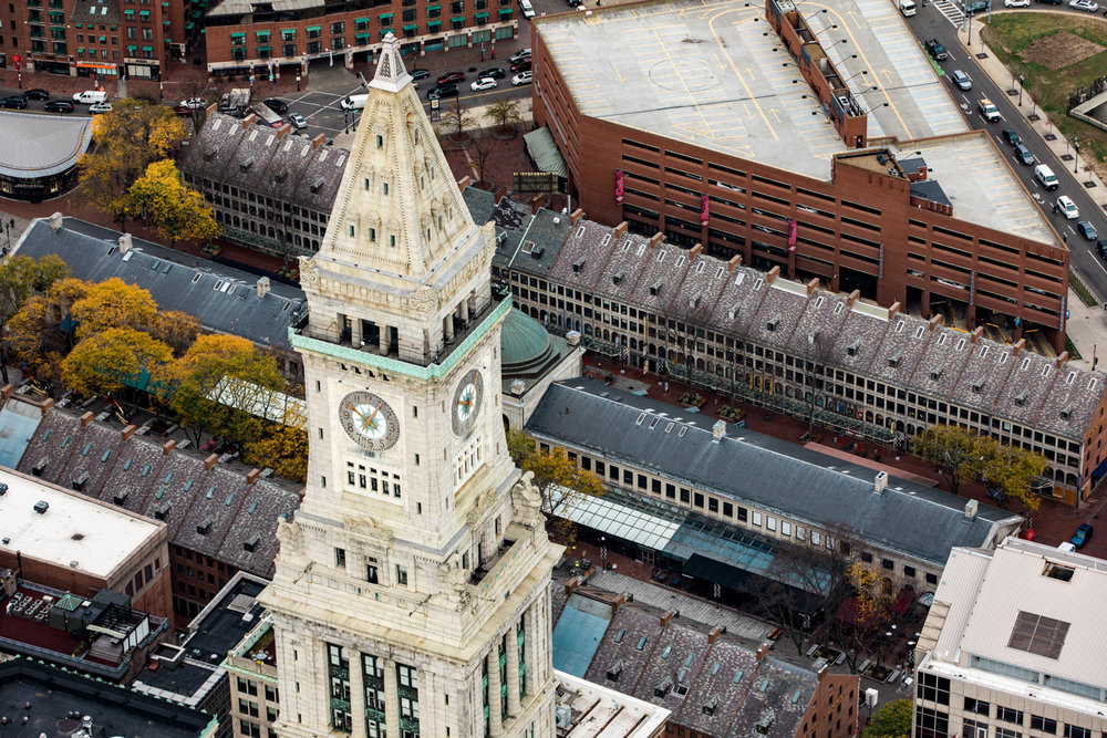 Custom House Boston Aerial Helicopter Photography