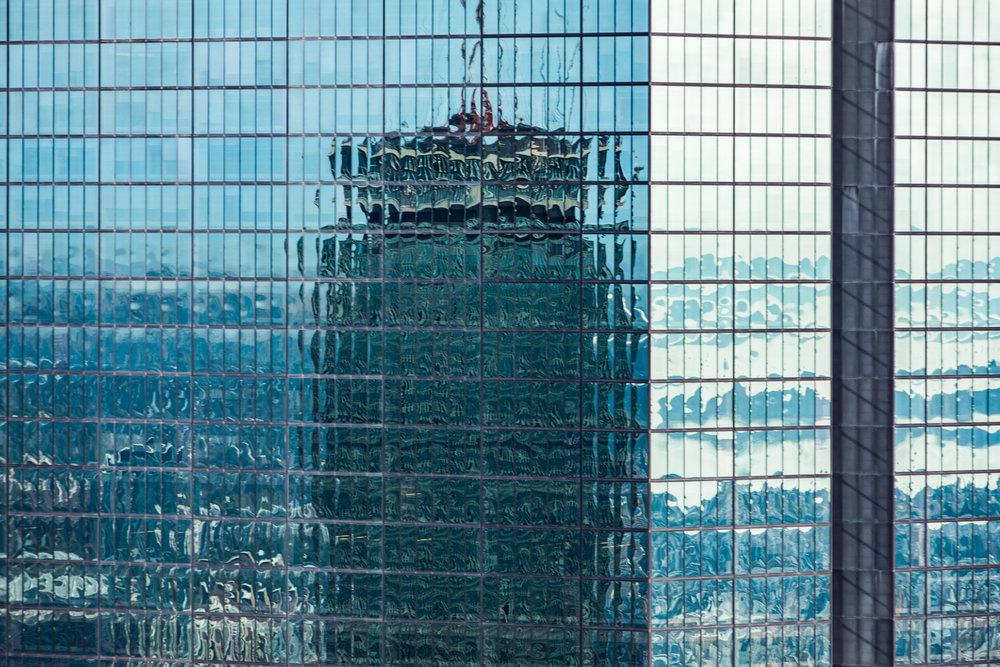 Prudential in Hancock Building Aerial Helicopter Photography