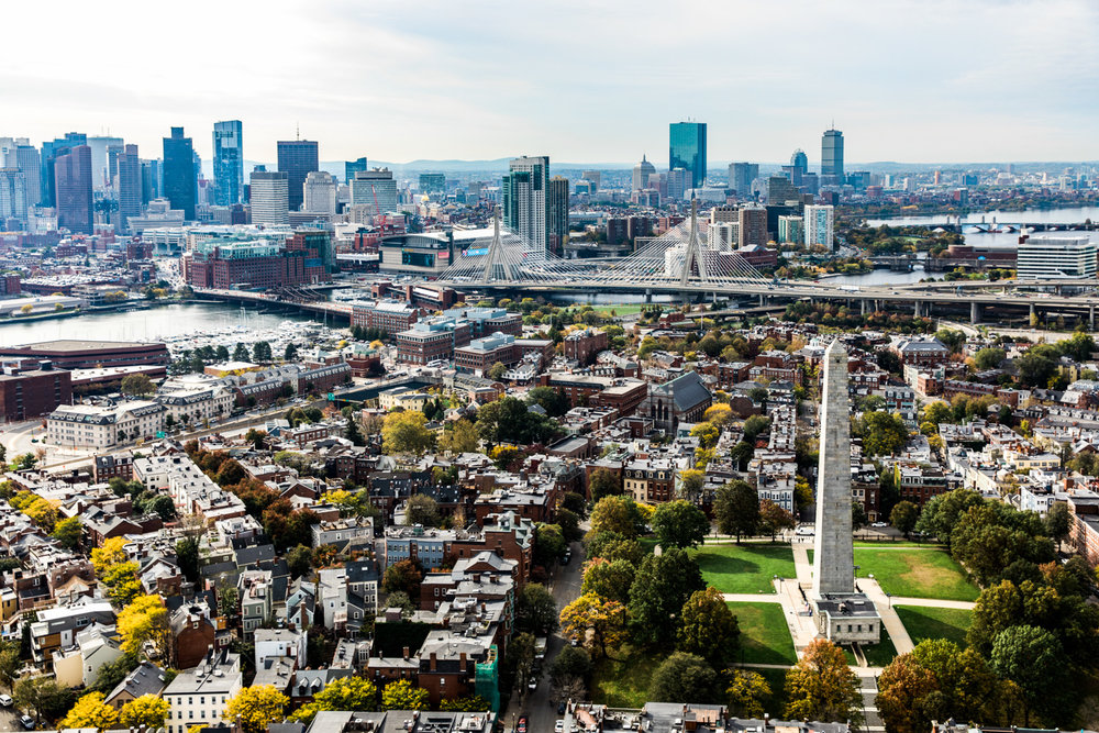 Bunker Hill Monument Aerial Helicopter Photography