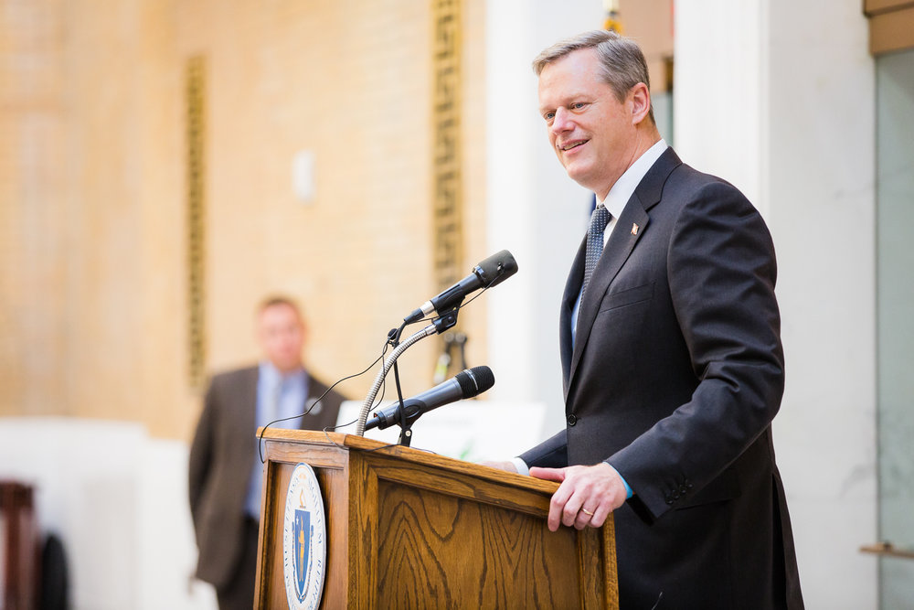 Charlie Baker Boston Event Photography