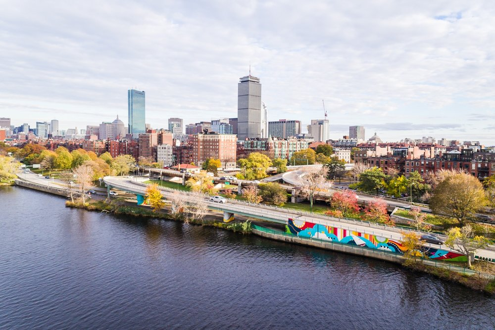 Now and There Mural Boston Aerial Drone Photography
