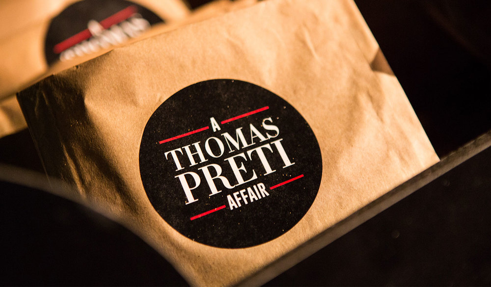 Popcorn bags for 'A Thomas Preti Affair'.
