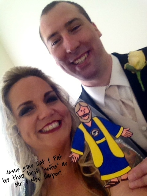 first selfie as Mr and Mrs Harper.JPG