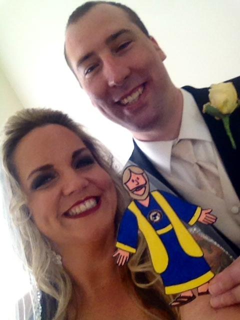"First ""selfie"" as Mr. & Mrs. Harper"