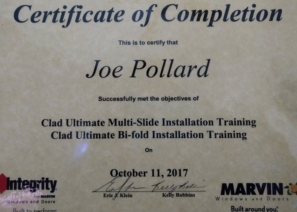 3 days of training with Marvin. - Joe knows his stuff!!