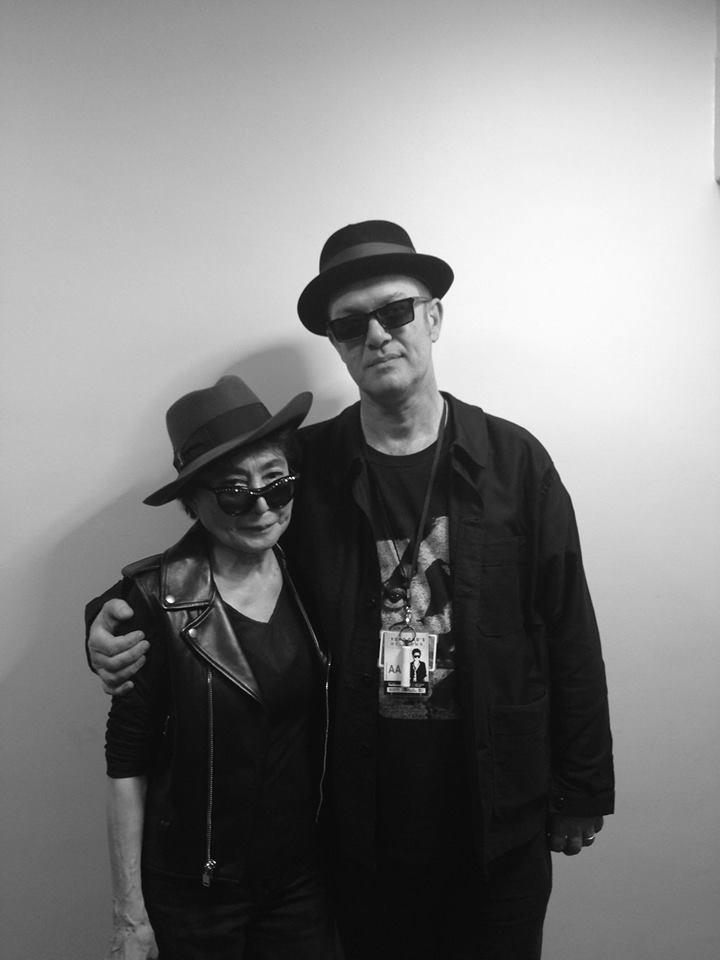 With Yoko Ono, Meltdown, London, June 2013