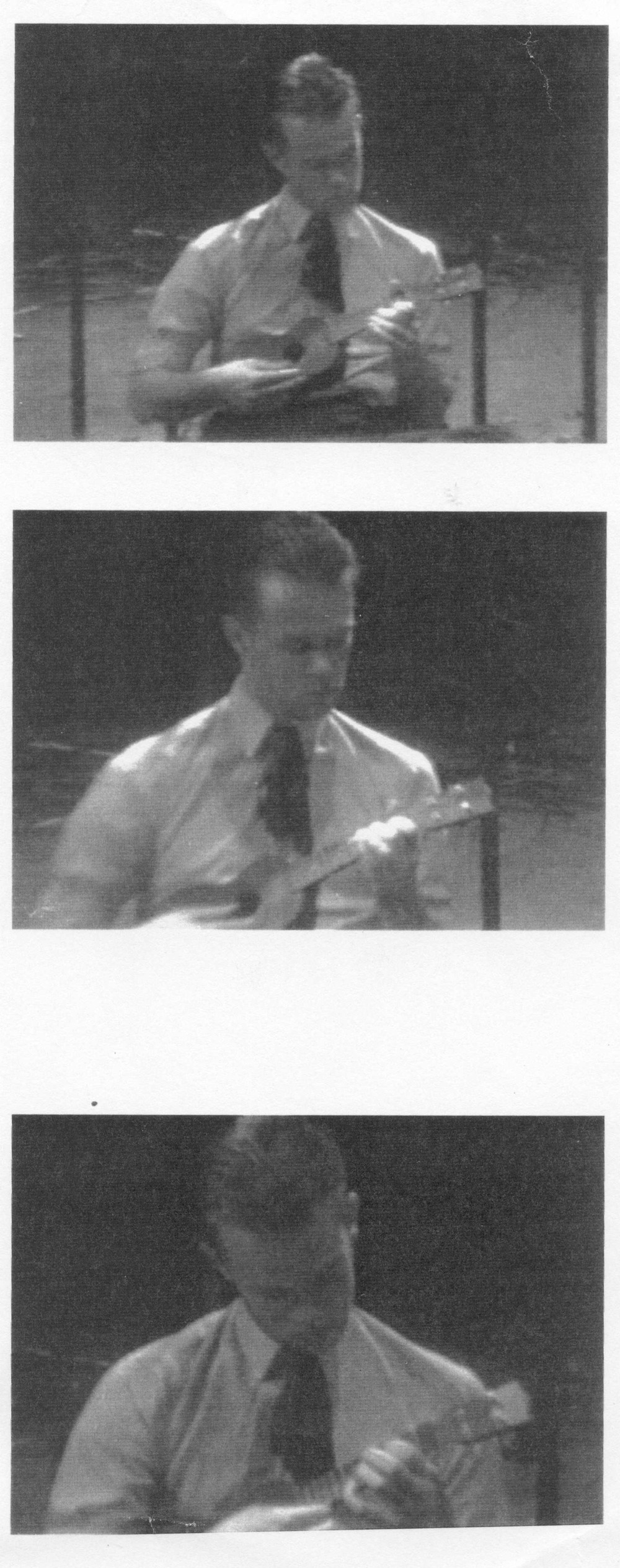 Playing ukulele, Uses Of Enchantment, London, 1987