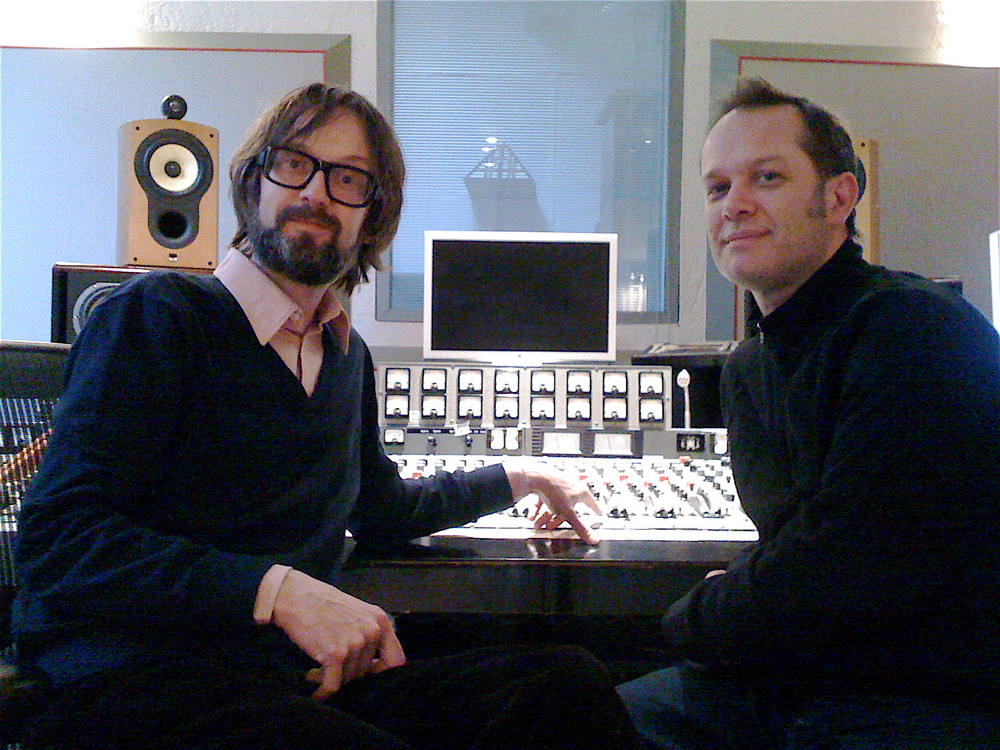 With Jarvis Cocker, recording at State Of The Ark, London 2007