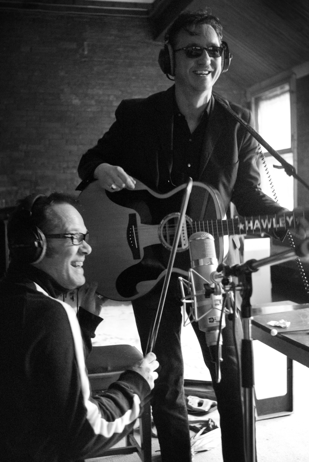 With Richard Hawley, Yellow Arch Studios, Sheffield, 2009. Photo: Chris Saunders