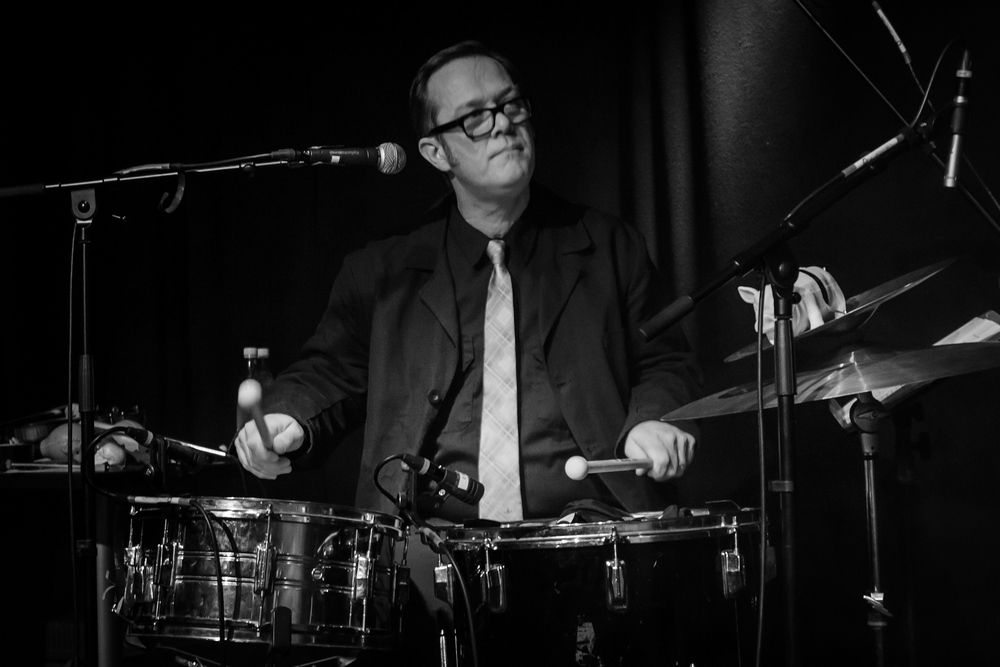 Playing Drums with The Tiger Lillies, Odense, Denmark, February 2013