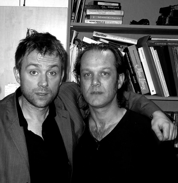 With Damon Albarn. London, Spring 2006