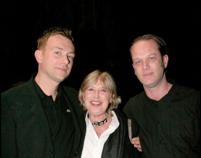 With Damon Albarn and Marianne Faithfull, Theatre de Chatelet, Paris, September 2007