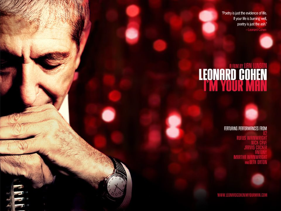 Poster for Leonard Cohen film which I appear in playing musical saw