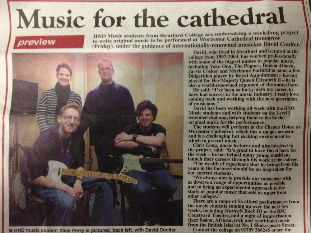 From Stratford Herald newspaper, March 2014