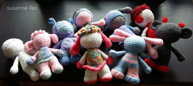 Poppets by Susanne Iles, patiently waiting for their faces.....