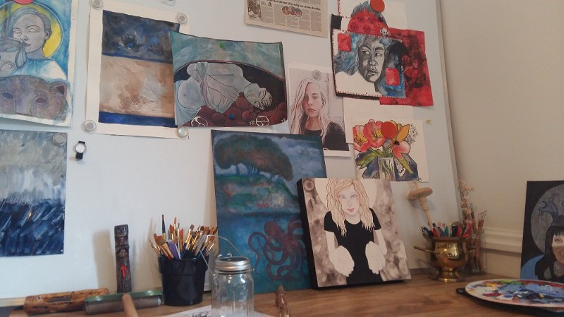 Works in progress in the art studio....