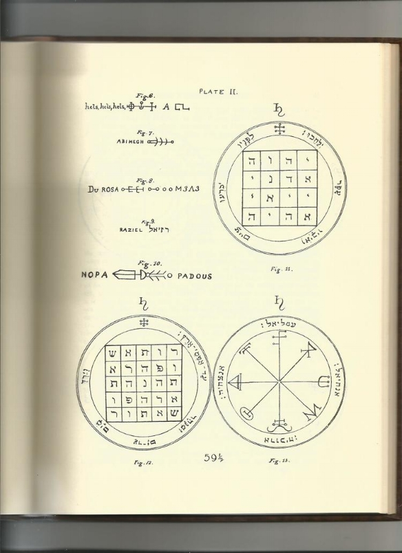 "Plate II from the ""Key of Solomon"" (1914) (scanned from my personal library)"