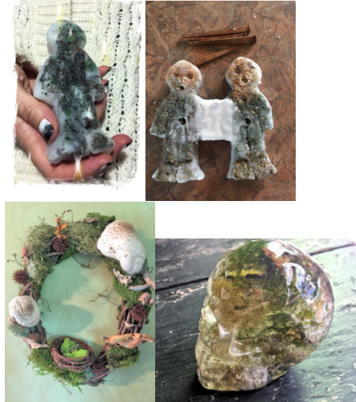 Poppets, wreaths and resin skulls