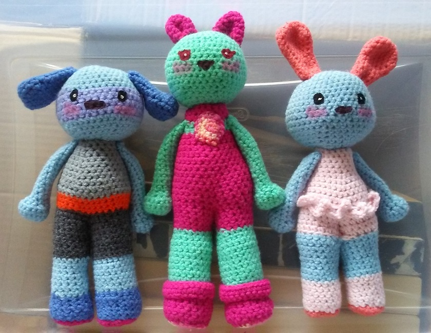 Mason the Puppy, Lily Rose the Amazing Kitten, and Gabriella the Bunny (these lovelies have already been sold <3) Thank you to my wonderful customers!