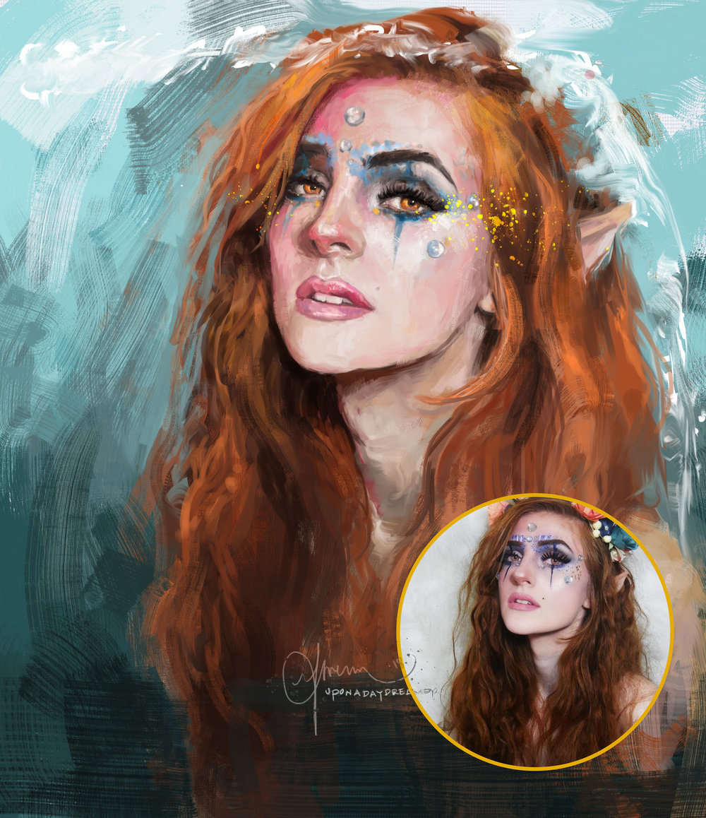 Painterly Portraits. - Expressive digital paints that feel like the real deal.