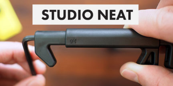 Studio Neat made the first, and maybe most well known tripod mount for smartphones, the Glif. They're great, and you should get one.