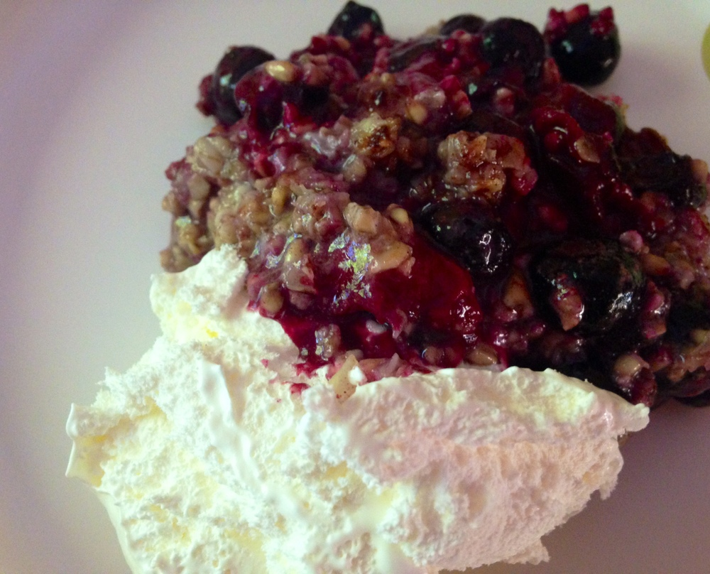 Blueberry Cobbler with Bob's Red Mill Steel Cut Oats