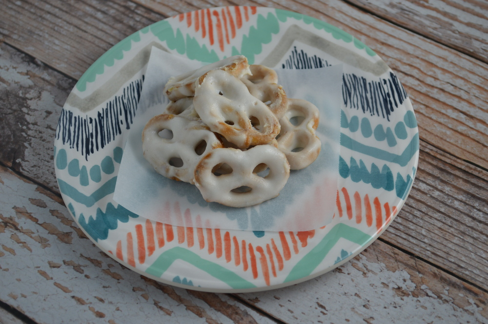 Yogurt Covered Pretzels coated with Siggi's Yogurt