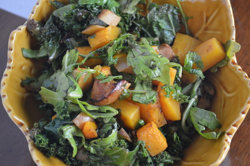 Roasted Squash & Apple Salad