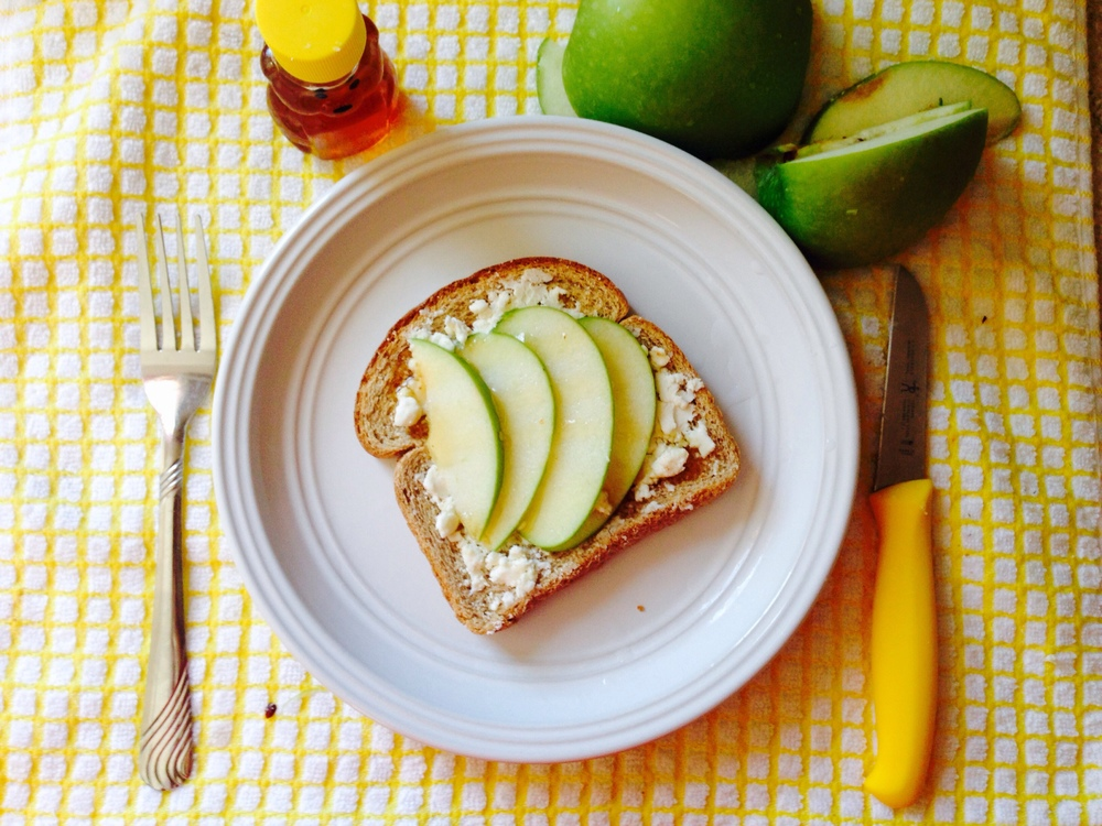 Apple & Goat Cheese Toast