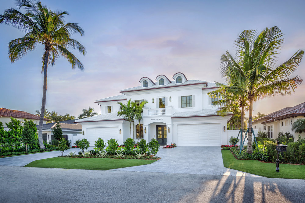 2220 East Silver Palm Road, at completion March 12, 2019, new construction luxury spec home project.