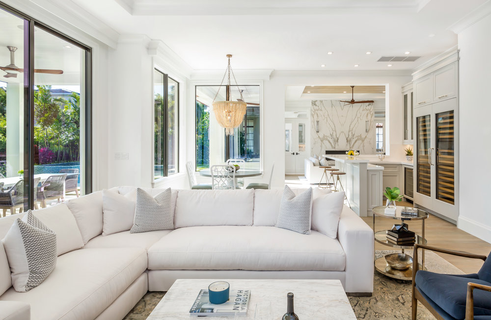 Coastal sophistication is evident in this custom built luxury home built by J.P. DiMisa Luxury Homes, Inc.