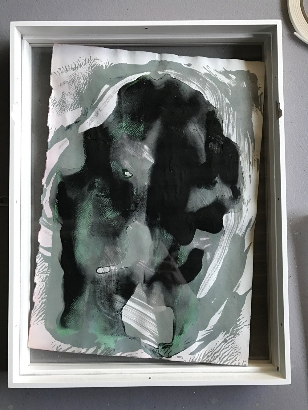 Finally getting around to framing some of these older monoprints.