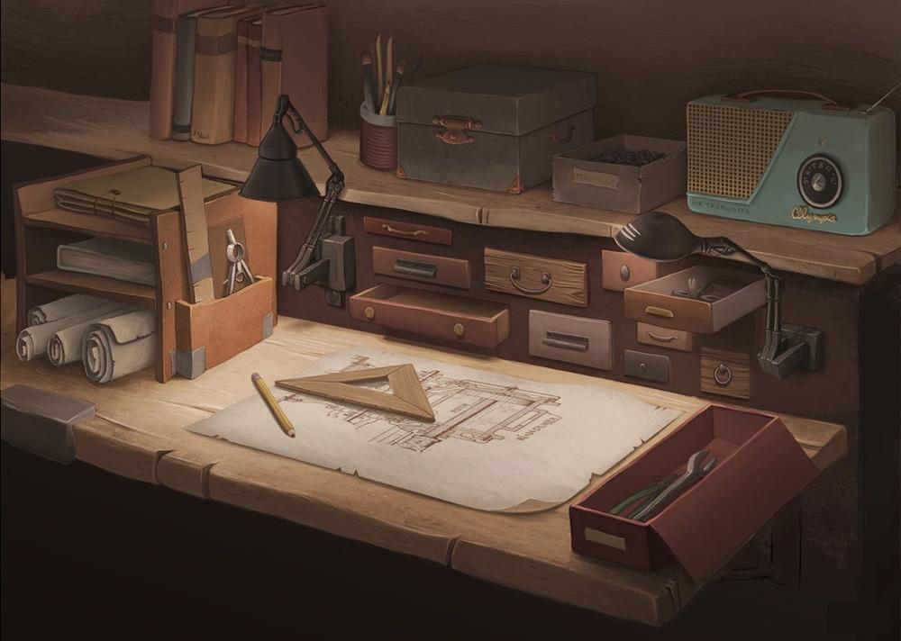 Addison's Desk