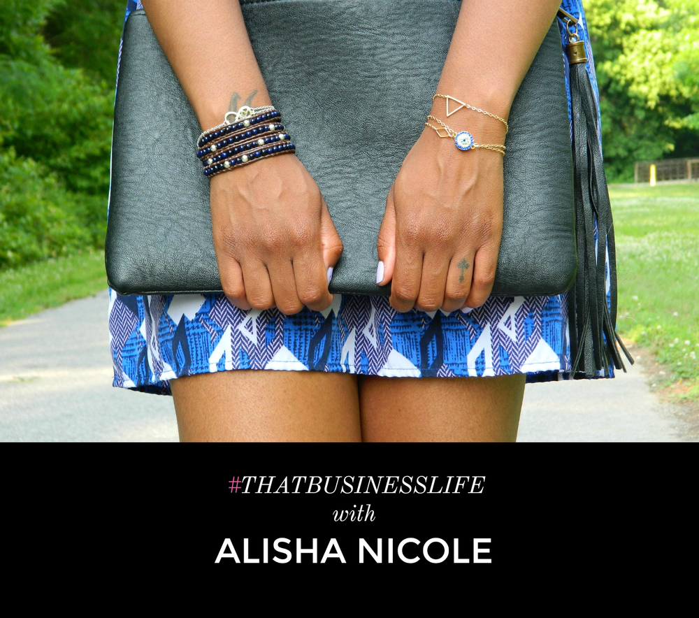 Alisha Nicole is a jewelry designer and a lifestyle blogger. She is the owner of   Shop Alisha Nicole  where she creates handmade jewelry . Check out my interview with the jewelry designer, Alisha Nicole.