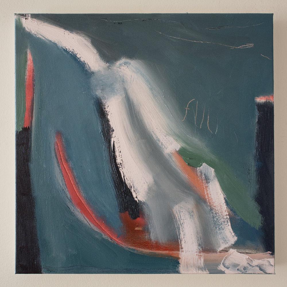 "Flu 16"" x 16"" Canvas & Oil"