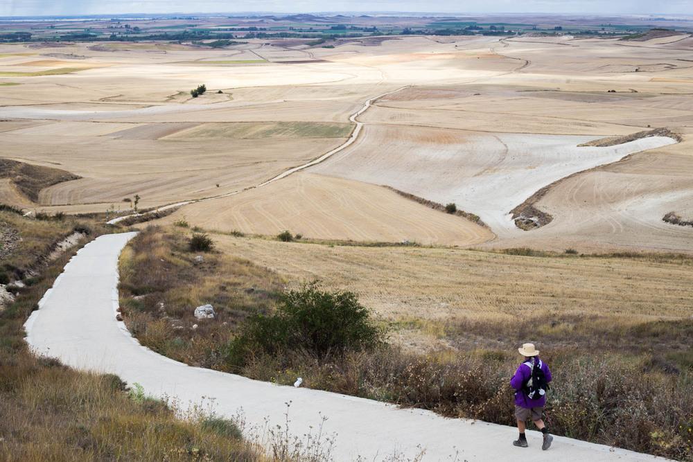La plana de Mostelares cerca de Castrojeriz