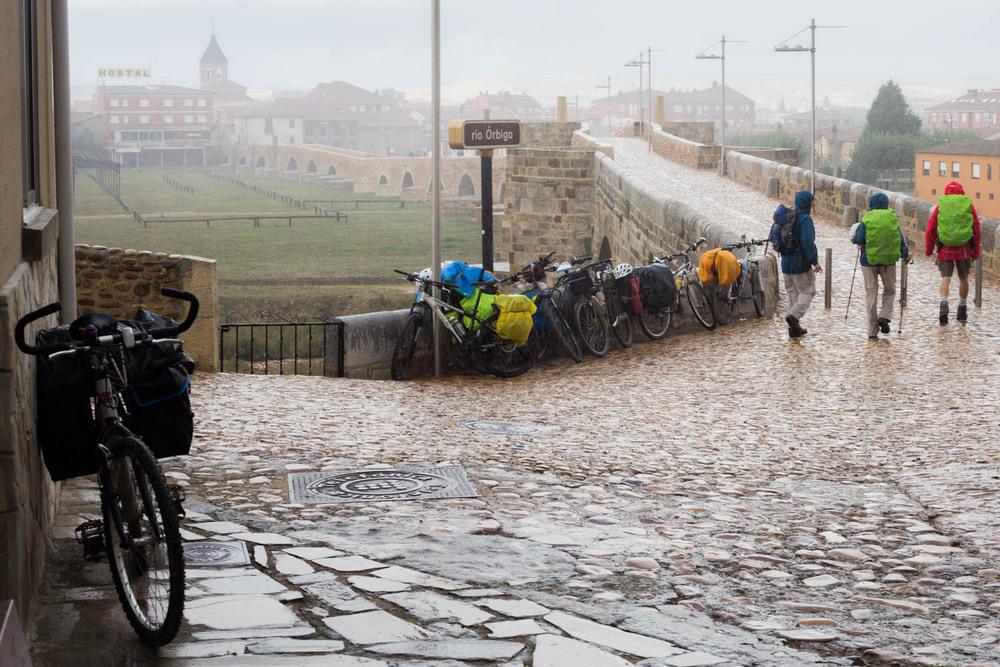 Días de lluvia en el Camino