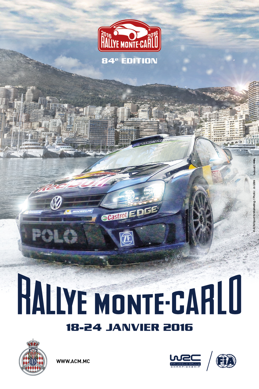 ACM Automobile Club de Monaco, Rally, WRC World Rally Championship, Monte Carlo Rally Poster
