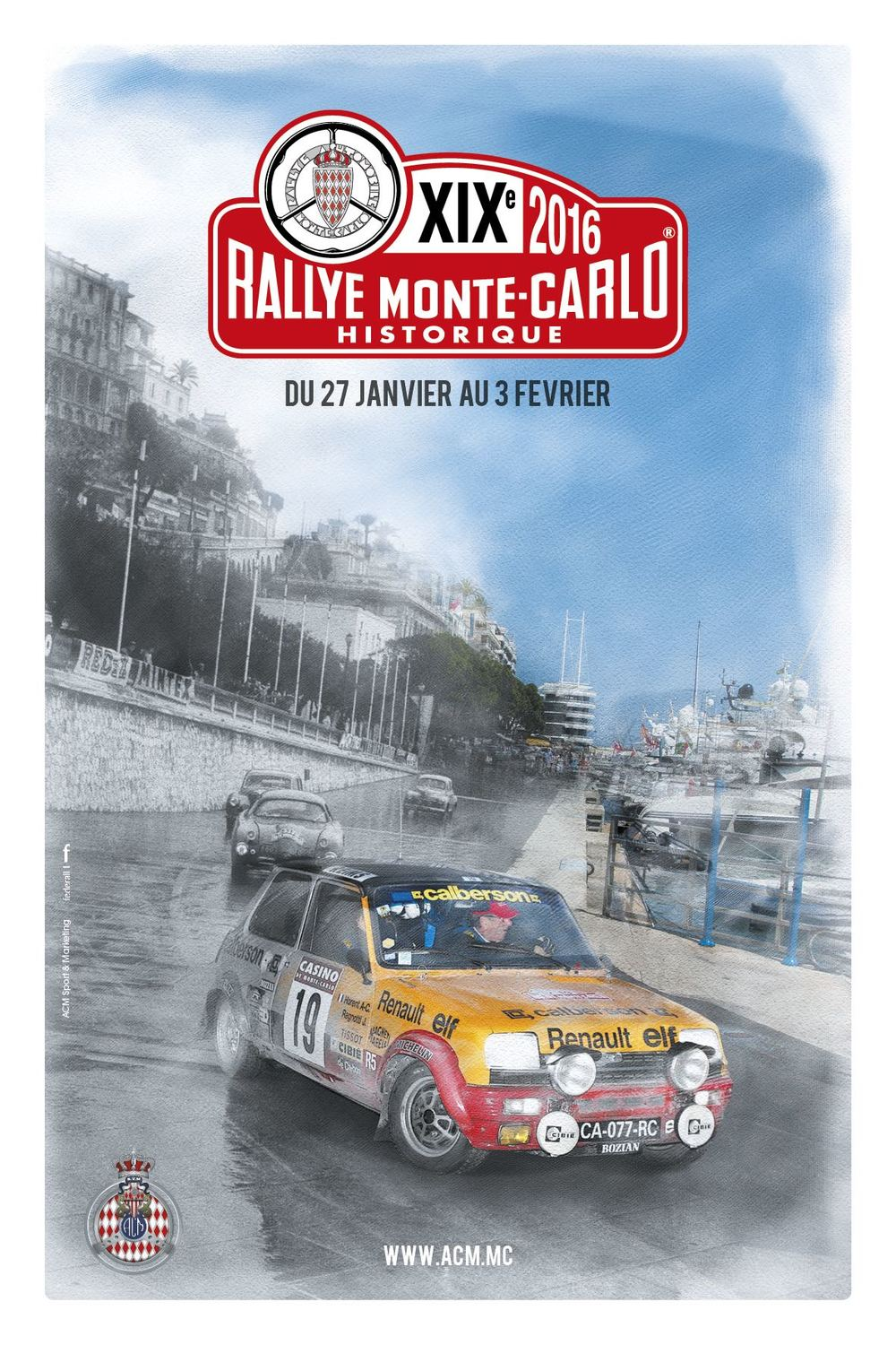 ACM Automobile Club de Monaco, Rally, Monte Carlo Historique Rally Poster
