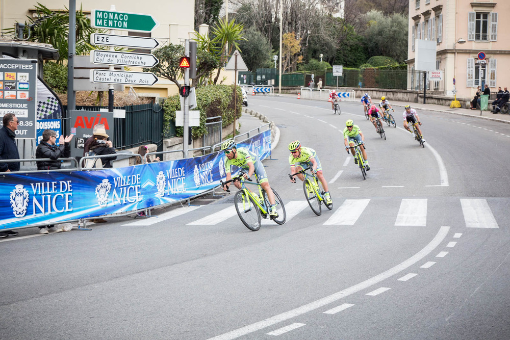 Quick return to Nice before the decisive Col d'Eze - Team Tinkoff Saxo