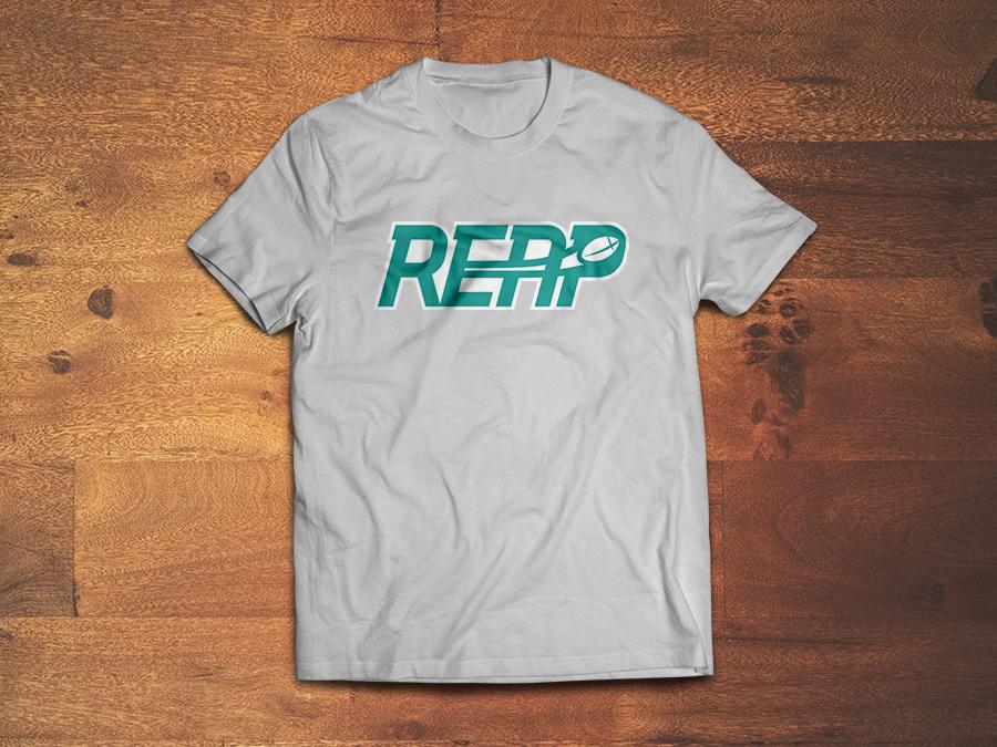 Tshirt mock-up of REAP logo.